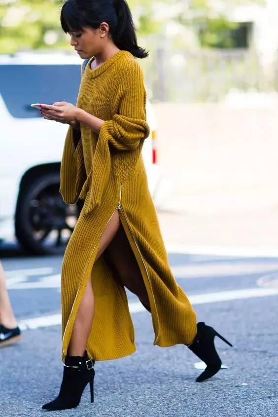开年上班装就来件毛衣裙,这样穿才是真女神? 服饰潮流 图29