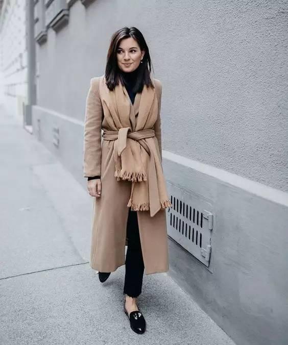 这三款平底鞋配大衣,经典又时髦,绝对是气场十足! 服饰潮流 图42