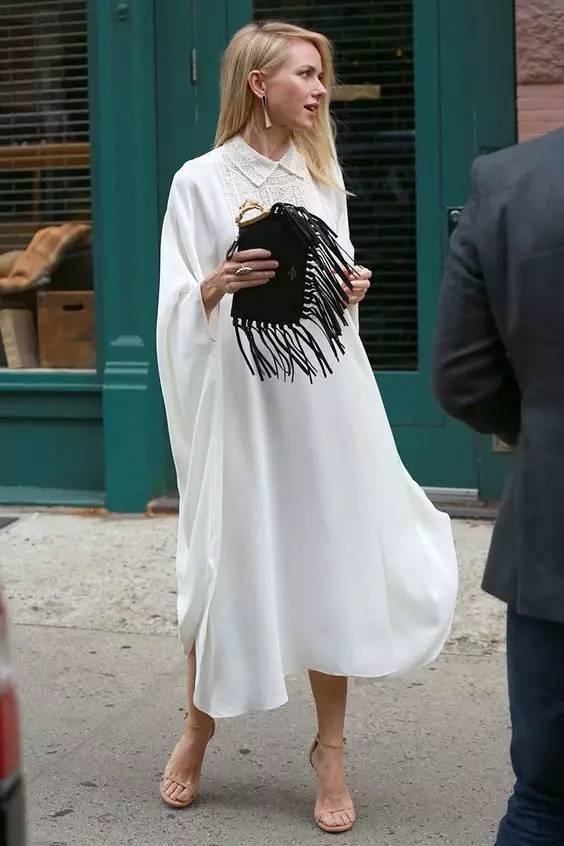 经典百搭的气质衬衫裙又火了,时髦又有女人味! 服饰潮流 图38