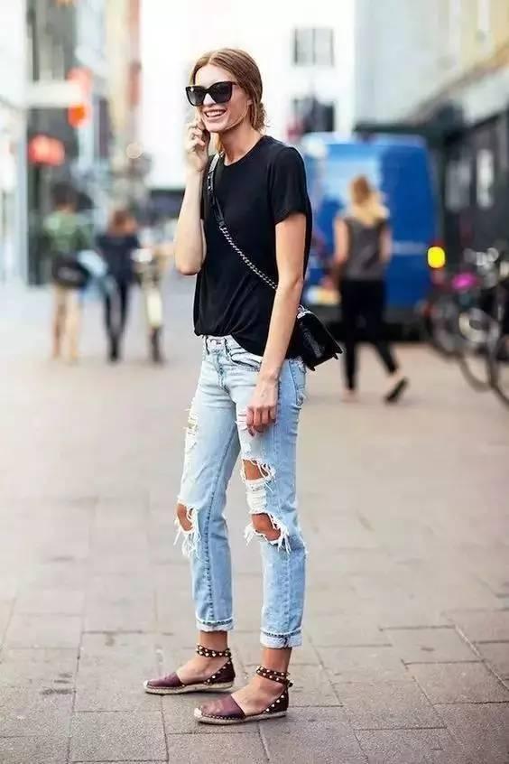 讲真,破洞裤简直就是不花钱的瘦腿良药!! 服饰潮流 图28