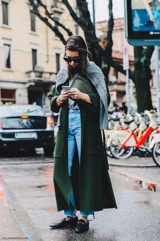 这三款平底鞋配大衣,经典又时髦,绝对是气场十足! 服饰潮流 图37