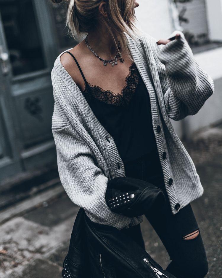这个季节,你最缺的百搭又保暖的衣服就是一款长开衫 服饰潮流 图9
