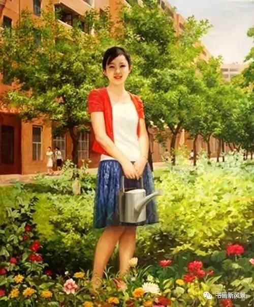 朝鲜油画中的美女真美!图片