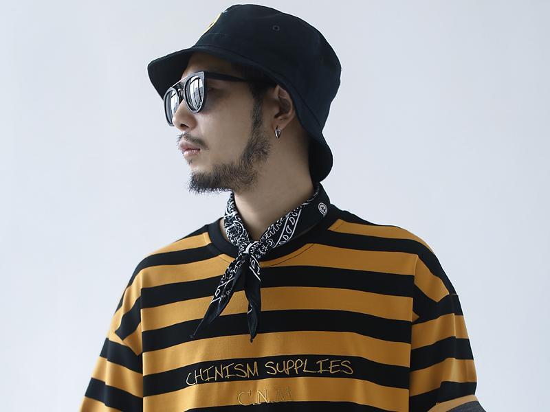 """这个夏天少不了 CHINISM 2017新款黑黄条纹T恤"""""""