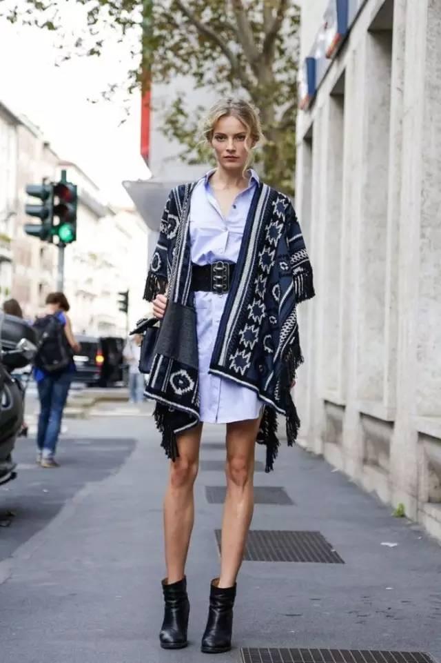 经典百搭的气质衬衫裙又火了,时髦又有女人味! 服饰潮流 图26