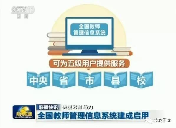 中软国际承建的全国教师管理信息系统建成启用获新闻联播报道