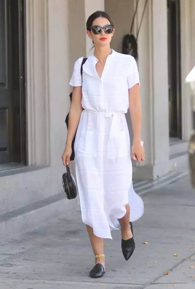 经典百搭的气质衬衫裙又火了,时髦又有女人味! 服饰潮流 图10