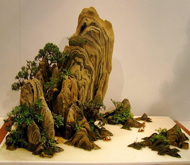 微型山水盆景图片