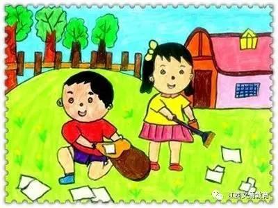 劳动节幼儿简笔画图片-劳动最光荣 自己的事情自己做,我是快乐的小