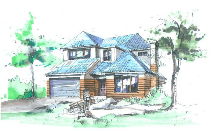 花园小别墅设计图还原梦里农村老家英文别墅图片