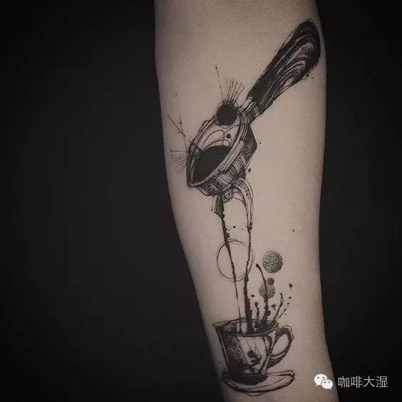 素材| 咖啡纹身参考