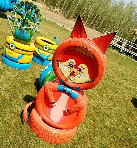大型轮胎创意主题乐园,亲子手绘涂鸦diy,不来你就错过了图片