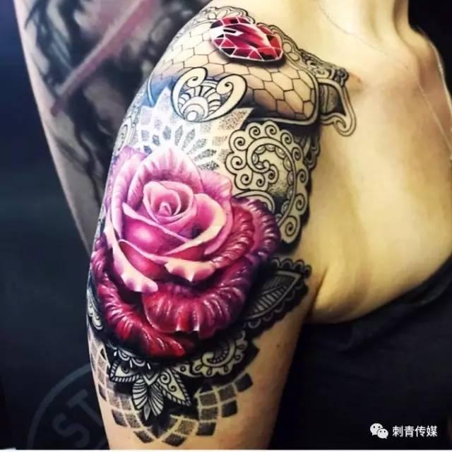 济南纹身肩膀分享展示