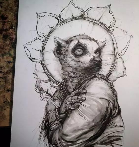 超写实主义作品手绘线稿,喜欢吗?