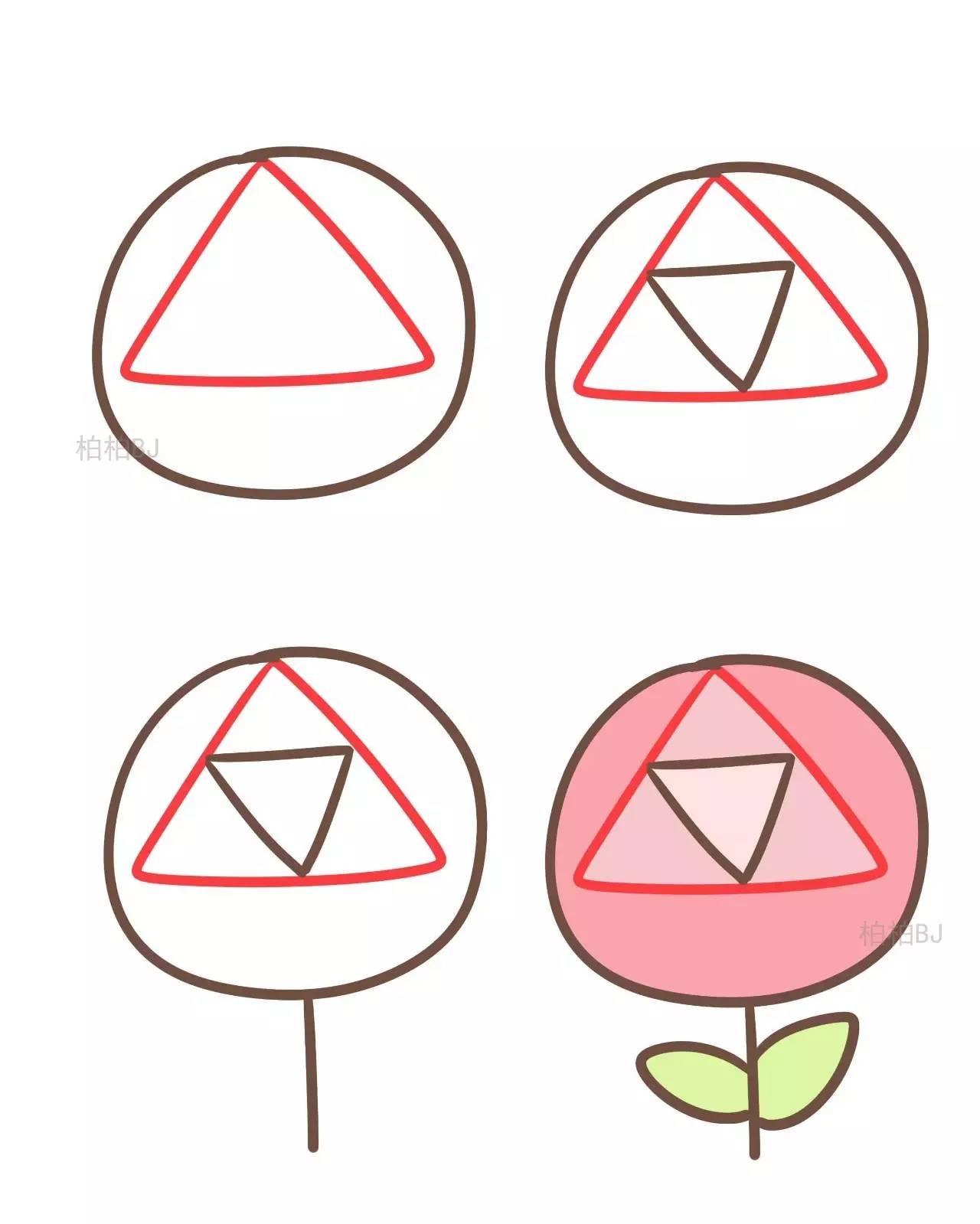三角形简笔画图片