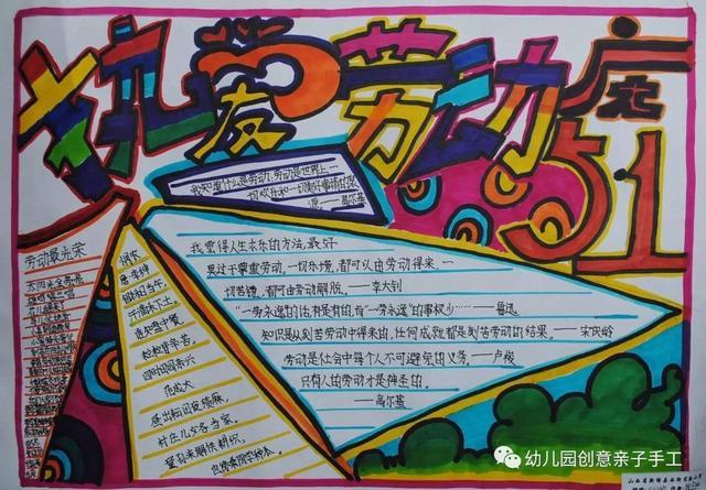 五一劳动节小学生手抄报:给孩子做节日最后的参考