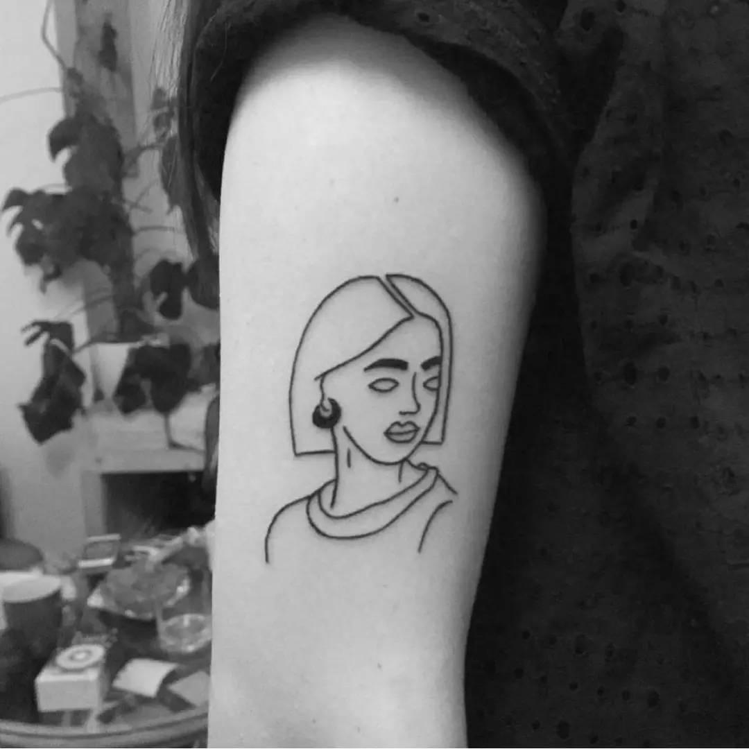 每日纹身图集|毕加索式的抽象派纹身,文艺 装逼~黄鳝