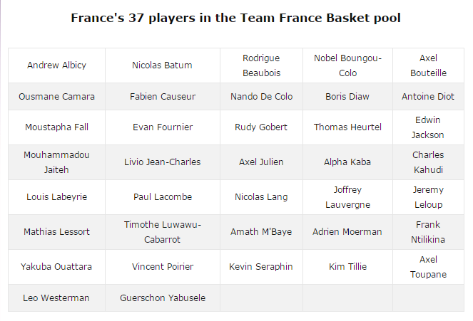 誓将为法国队出征直至2020年奥运会,新疆队球员名单 ...