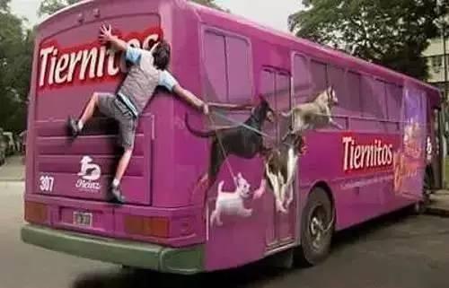 『创意』如果公交车广告做成这样 我愿意天天挤公交!