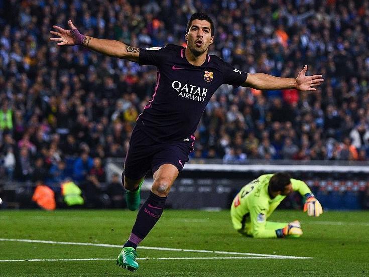 苏亚雷斯这两个奇葩进球连梅西C罗都要鼓掌