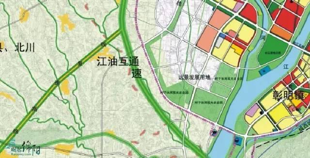 林乡过龙凤镇从江油未来建设的涪江七桥南处过涪江,在白岩坝方向