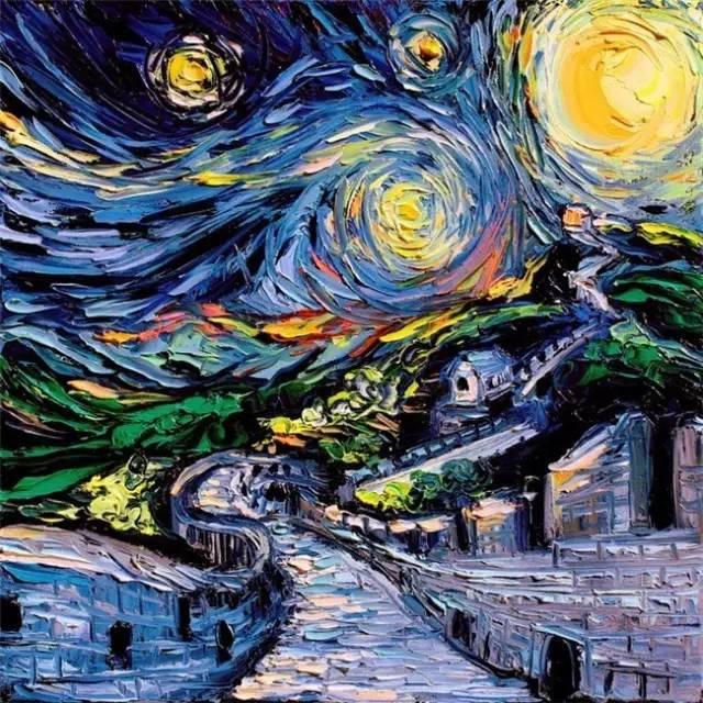 这样新奇的梵高风画作 你一定没见过