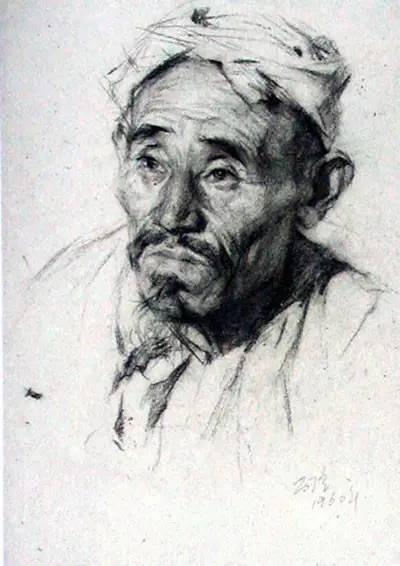 靳尚谊素描头像作品欣赏图片