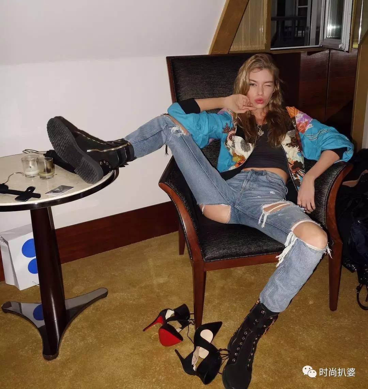 在倪妮这条破洞裤面前,宋茜王鸥李小璐们的大破洞裤都弱爆了! 服饰潮流 图13