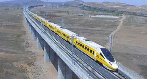 内蒙古首条高铁开启联调联试,设计速度250公里/小时(图)