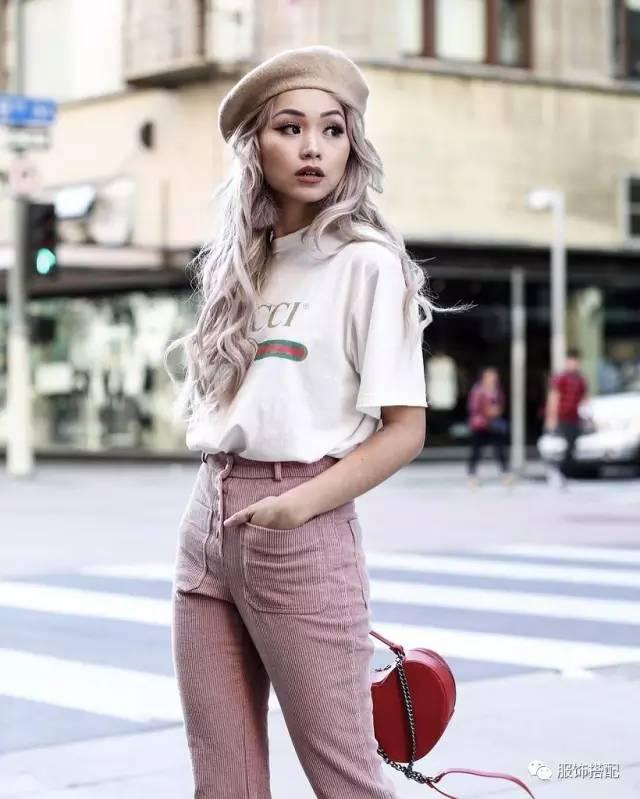 穿衣搭配|经典百搭的短袖T恤+九分裤 时尚潮流 第24张