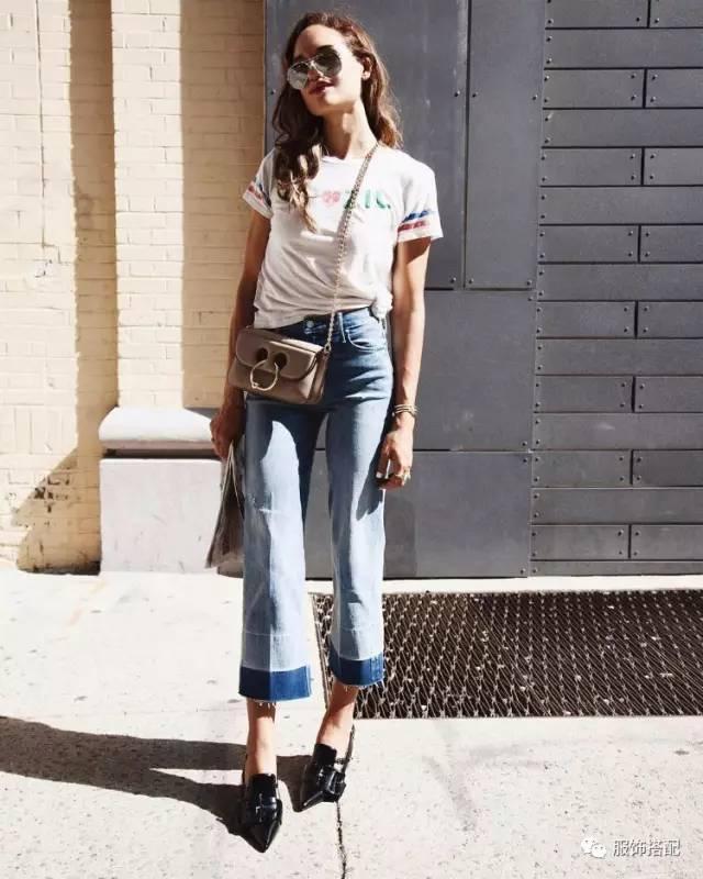 穿衣搭配|经典百搭的短袖T恤+九分裤 时尚潮流 第56张