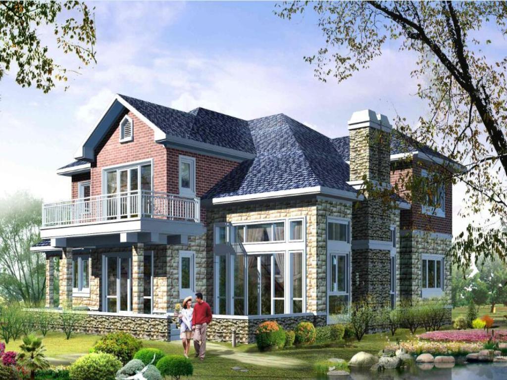 设计图-2层农村别墅设计图 自建房设计图图纸带效果图图片