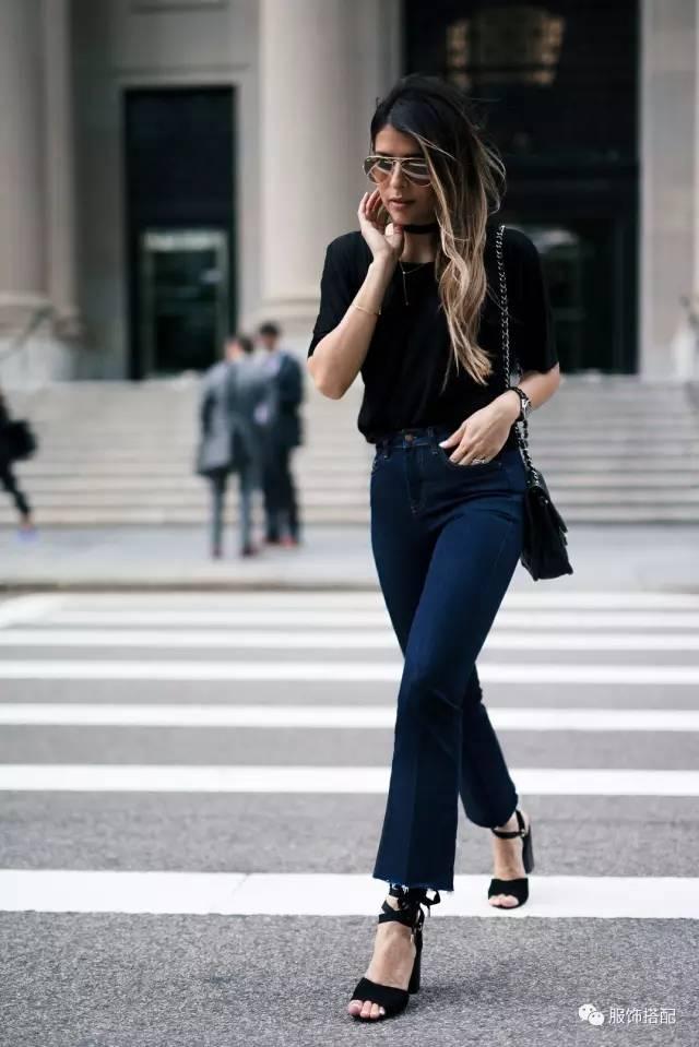 穿衣搭配|经典百搭的短袖T恤+九分裤 时尚潮流 第55张