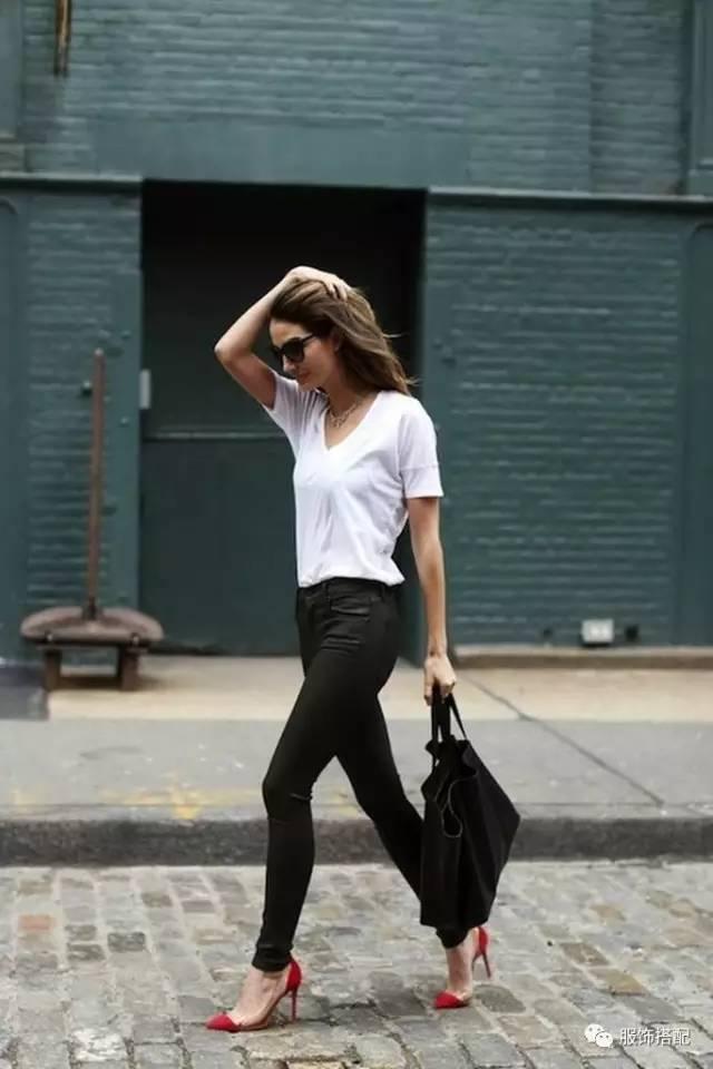 穿衣搭配|经典百搭的短袖T恤+九分裤 时尚潮流 第63张