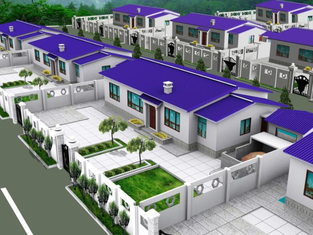 一层新农村房屋设计图--农家乐平立剖图