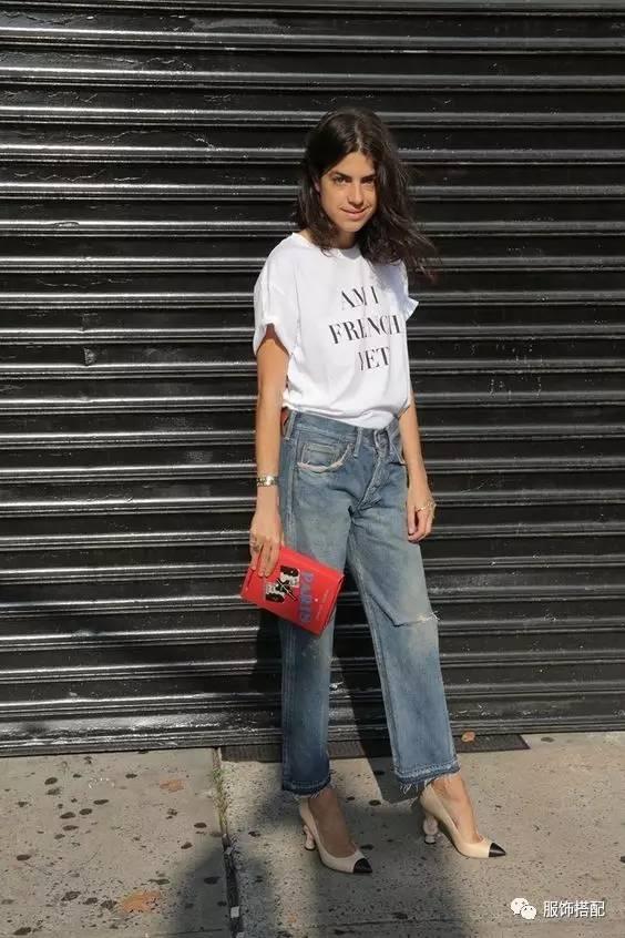 穿衣搭配|经典百搭的短袖T恤+九分裤 时尚潮流 第22张