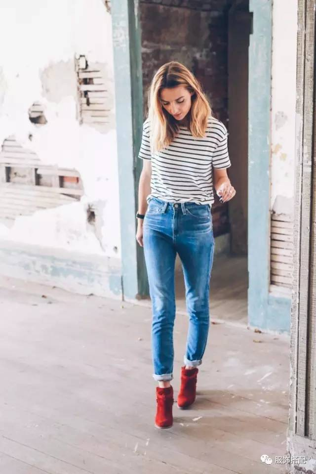 穿衣搭配|经典百搭的短袖T恤+九分裤 时尚潮流 第14张