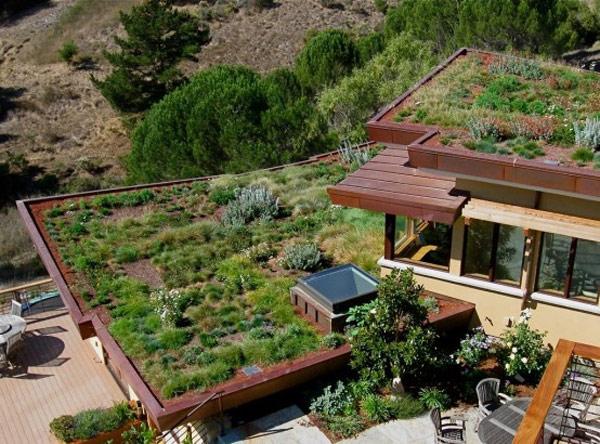快看,这些屋顶花园中的文化石景观