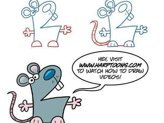 儿童简笔画:孩子爱用数字画出百变恐龙和卡通动物