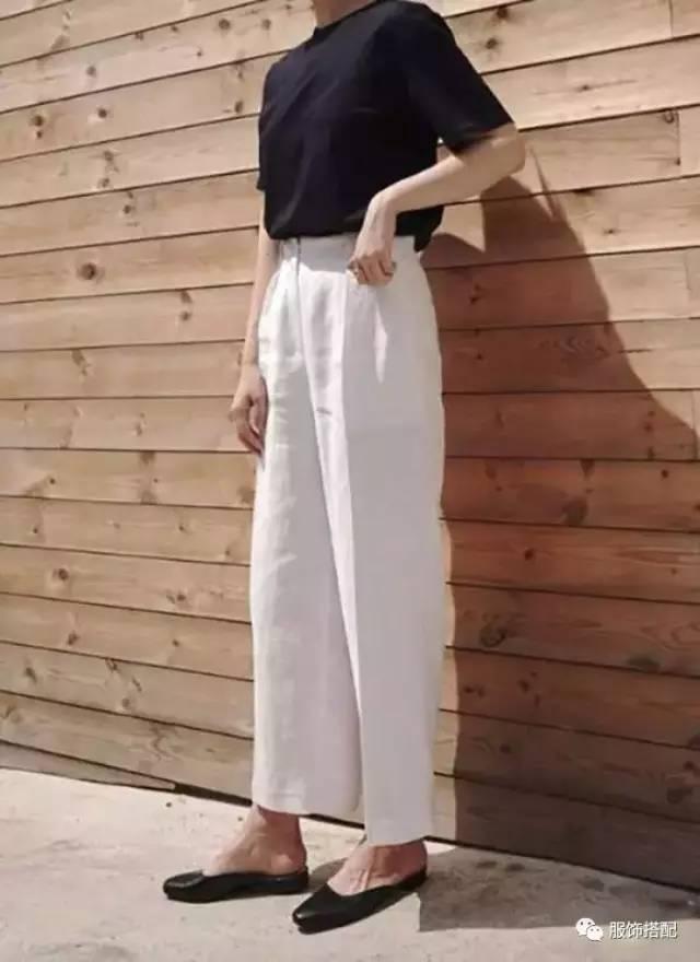 穿衣搭配|经典百搭的短袖T恤+九分裤 时尚潮流 第43张