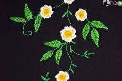 好看的卷针玫瑰刺绣,不会刺绣的新手也能轻松学会