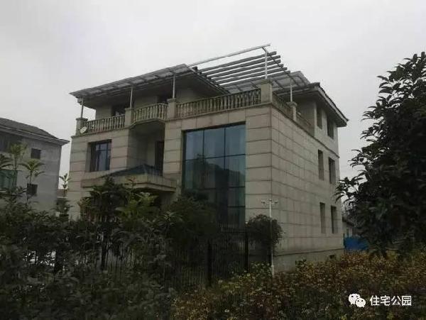 新农村自建房11X10.8米,落地窗屋顶花园,实拍