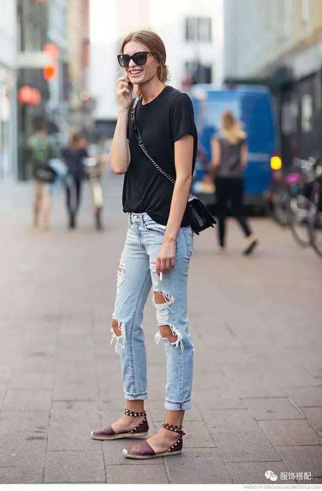 穿衣搭配|经典百搭的短袖T恤+九分裤 时尚潮流 第37张