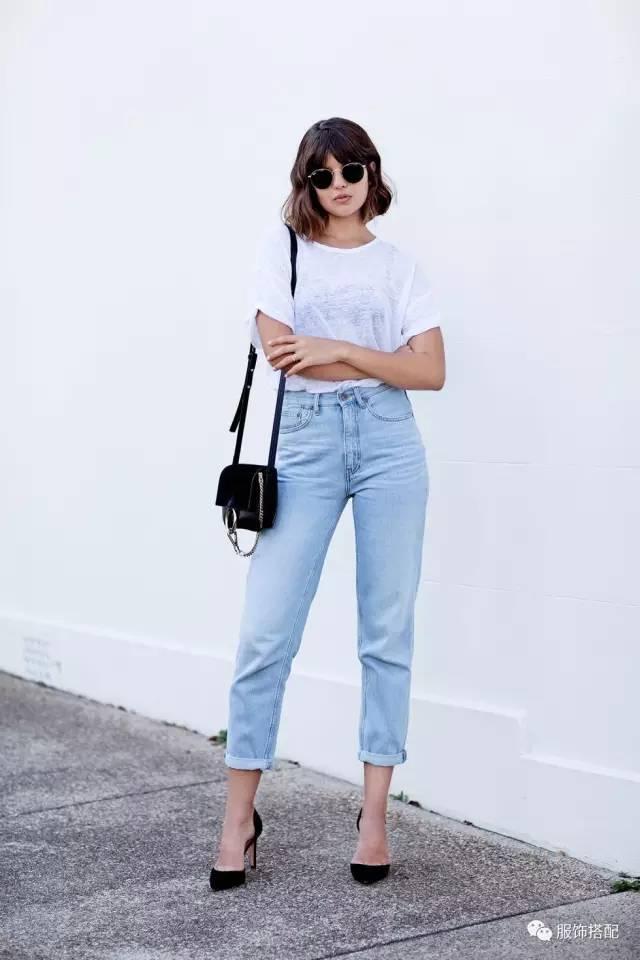 穿衣搭配|经典百搭的短袖T恤+九分裤 时尚潮流 第2张