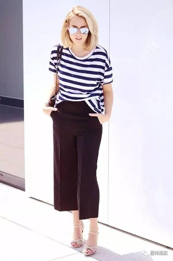 穿衣搭配|经典百搭的短袖T恤+九分裤 时尚潮流 第46张