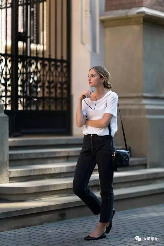 穿衣搭配|经典百搭的短袖T恤+九分裤 时尚潮流 第68张