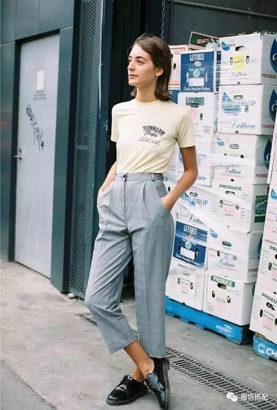 穿衣搭配|经典百搭的短袖T恤+九分裤 时尚潮流 第51张