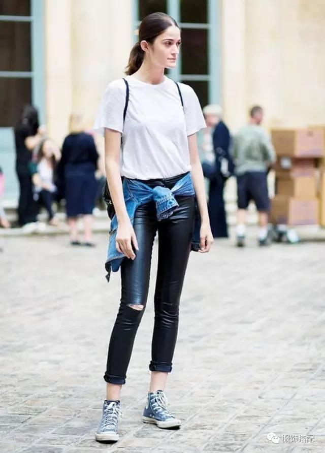 穿衣搭配|经典百搭的短袖T恤+九分裤 时尚潮流 第31张