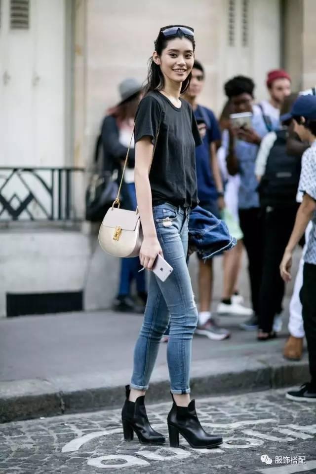 穿衣搭配|经典百搭的短袖T恤+九分裤 时尚潮流 第8张