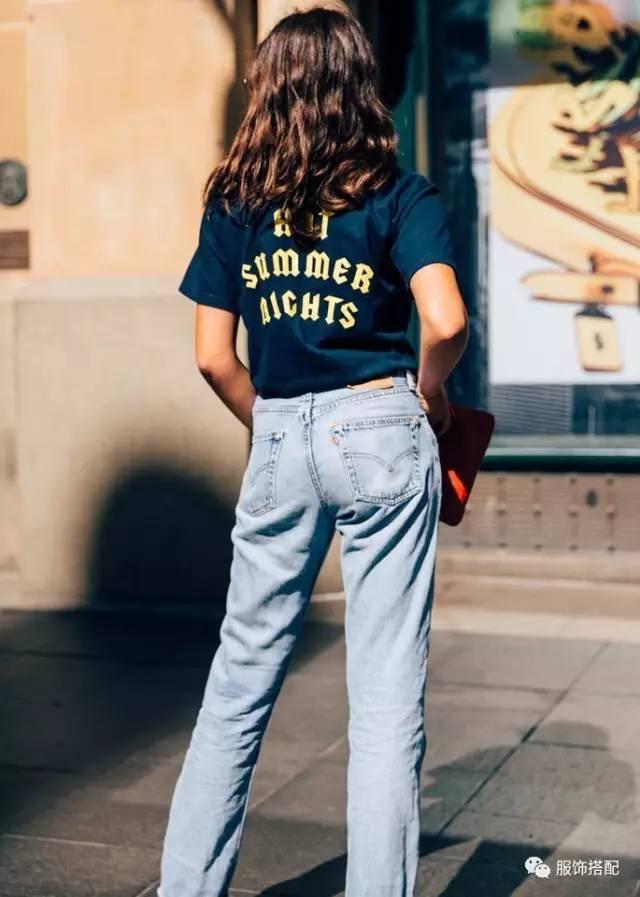 穿衣搭配|经典百搭的短袖T恤+九分裤 时尚潮流 第23张